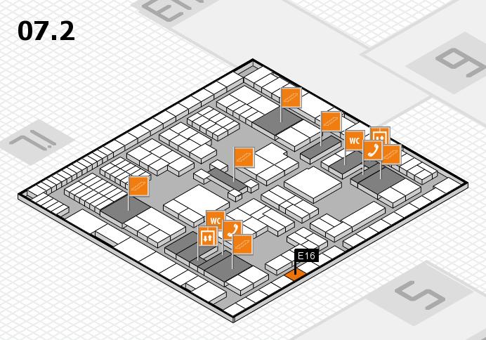 interpack 2017 Hallenplan (Halle 7, Ebene 2): Stand E16