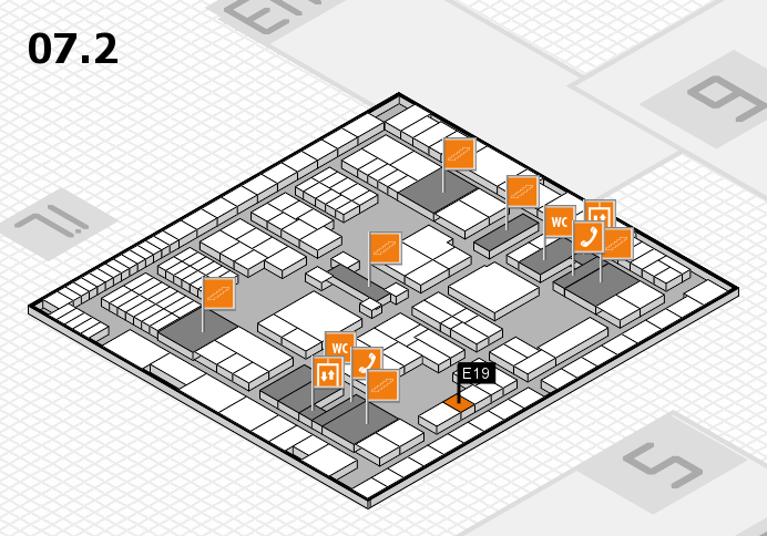 interpack 2017 hall map (Hall 7, level 2): stand E19