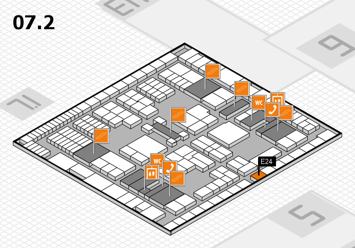 interpack 2017 hall map (Hall 7, level 2): stand E24