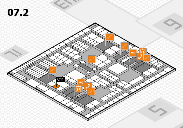 interpack 2017 hall map (Hall 7, level 2): stand C11