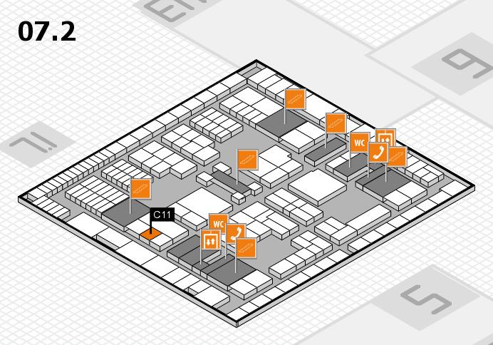 interpack 2017 Hallenplan (Halle 7, Ebene 2): Stand C11