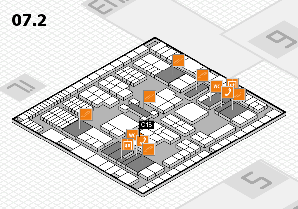 interpack 2017 hall map (Hall 7, level 2): stand C18