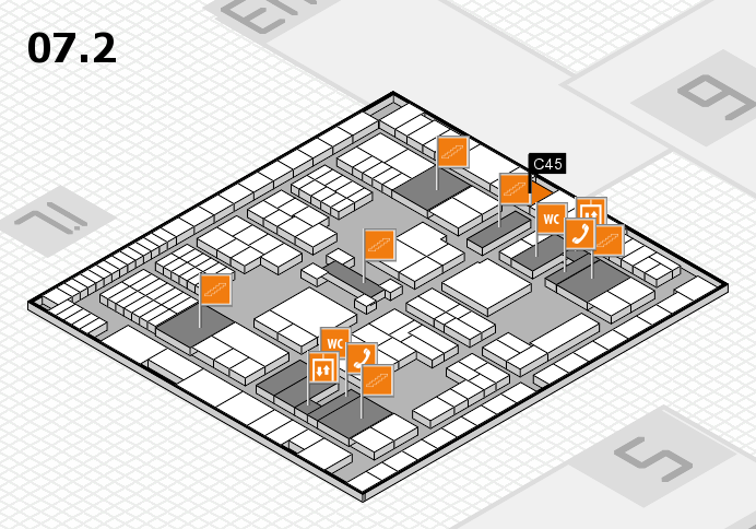 interpack 2017 hall map (Hall 7, level 2): stand C45