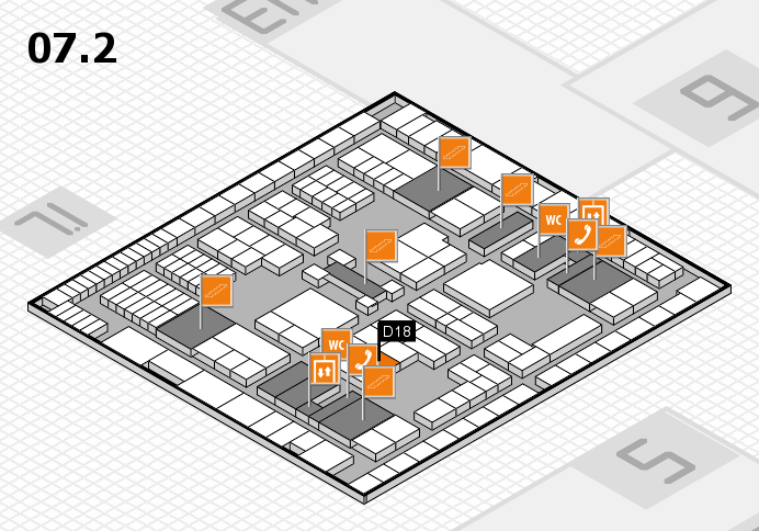 interpack 2017 hall map (Hall 7, level 2): stand D18