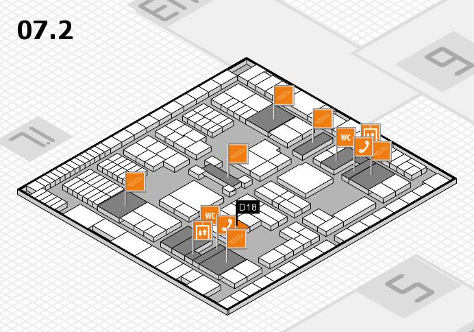 interpack 2017 Hallenplan (Halle 7, Ebene 2): Stand D18