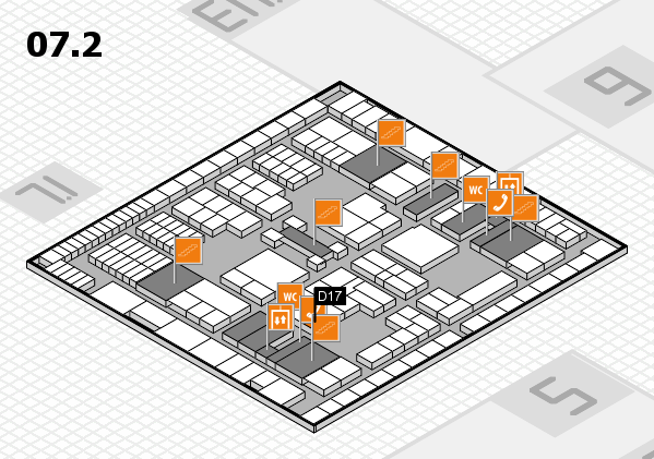 interpack 2017 hall map (Hall 7, level 2): stand D17