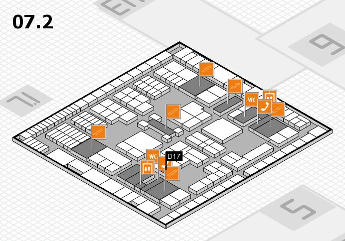 interpack 2017 Hallenplan (Halle 7, Ebene 2): Stand D17