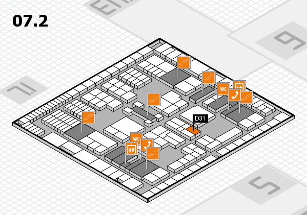 interpack 2017 hall map (Hall 7, level 2): stand D31