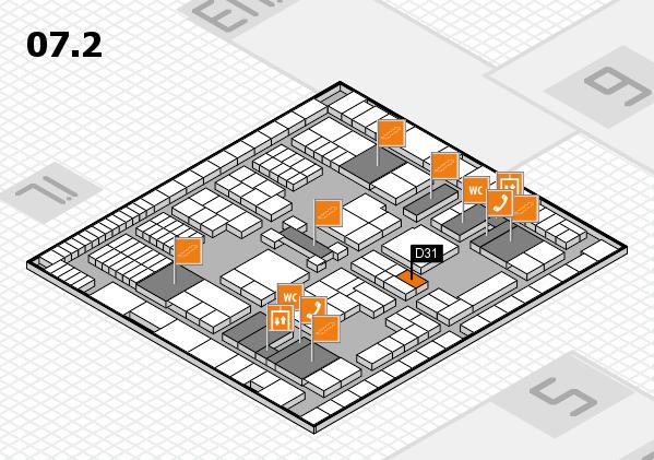 interpack 2017 Hallenplan (Halle 7, Ebene 2): Stand D31