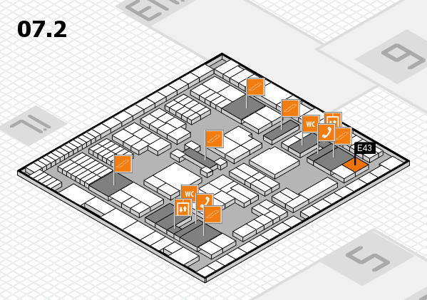 interpack 2017 hall map (Hall 7, level 2): stand E43