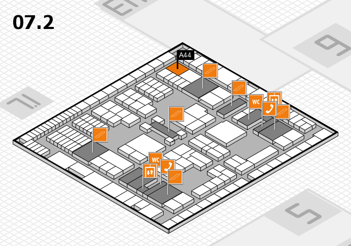 interpack 2017 hall map (Hall 7, level 2): stand A44
