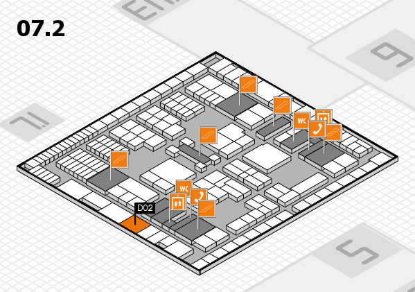 interpack 2017 hall map (Hall 7, level 2): stand D02