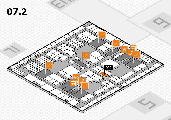 interpack 2017 Hallenplan (Halle 7, Ebene 2): Stand D30