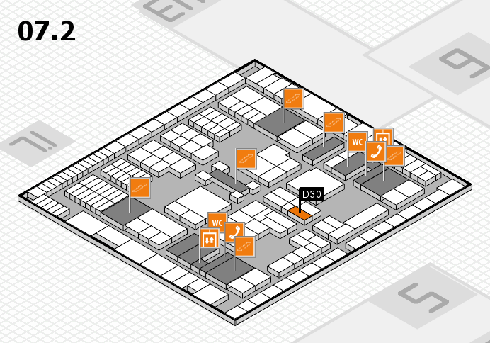 interpack 2017 hall map (Hall 7, level 2): stand D30