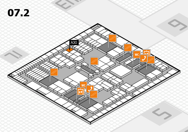 interpack 2017 hall map (Hall 7, level 2): stand A30