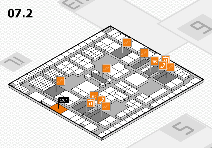 interpack 2017 hall map (Hall 7, level 2): stand C01