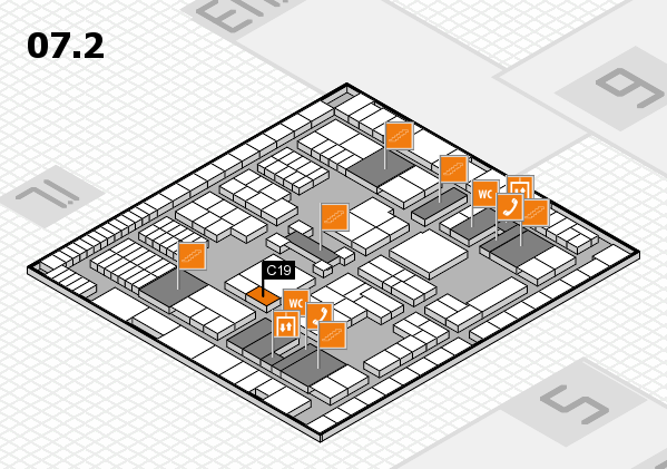 interpack 2017 hall map (Hall 7, level 2): stand C19