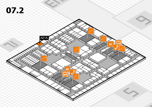 interpack 2017 hall map (Hall 7, level 2): stand A21A