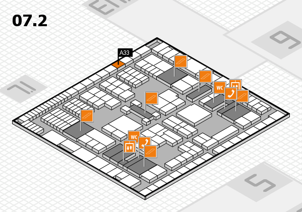 interpack 2017 hall map (Hall 7, level 2): stand A33
