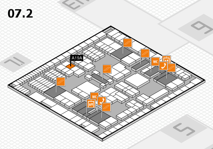 interpack 2017 hall map (Hall 7, level 2): stand A19A