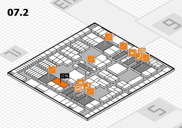 interpack 2017 hall map (Hall 7, level 2): stand C16