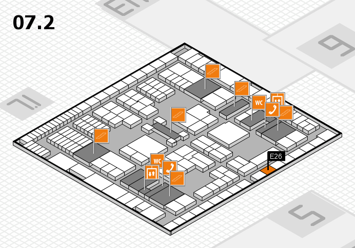interpack 2017 hall map (Hall 7, level 2): stand E26