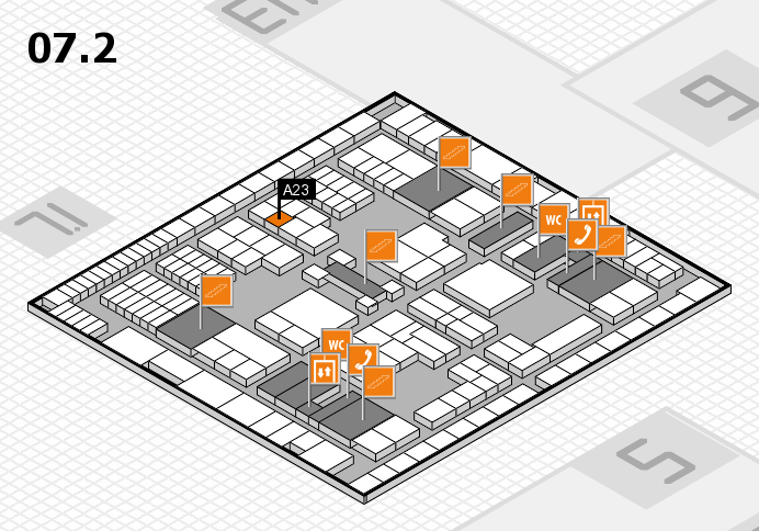 interpack 2017 hall map (Hall 7, level 2): stand A23