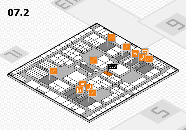 interpack 2017 hall map (Hall 7, level 2): stand C30