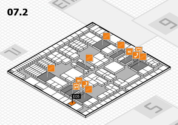 interpack 2017 hall map (Hall 7, level 2): stand E05