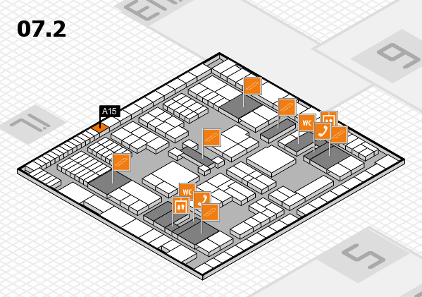 interpack 2017 hall map (Hall 7, level 2): stand A15