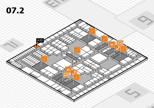 interpack 2017 Hallenplan (Halle 7, Ebene 2): Stand A15