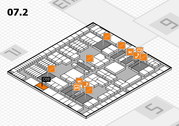 interpack 2017 hall map (Hall 7, level 2): stand C03
