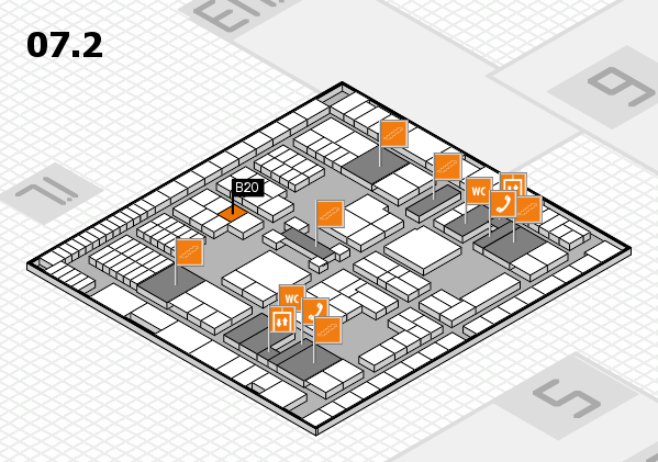 interpack 2017 hall map (Hall 7, level 2): stand B20