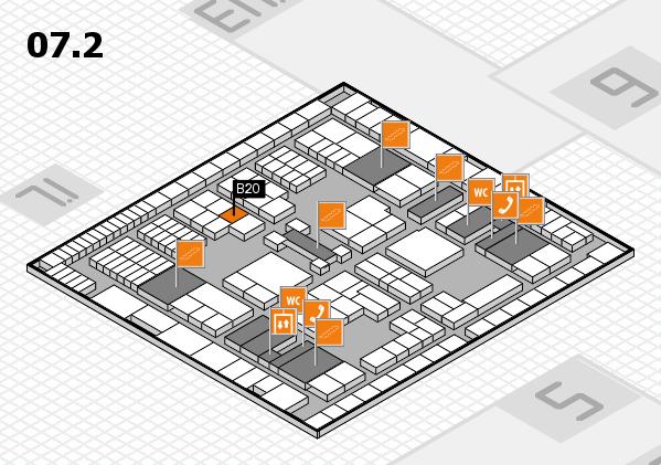 interpack 2017 Hallenplan (Halle 7, Ebene 2): Stand B20