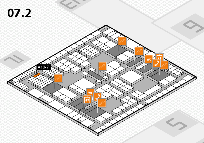 interpack 2017 hall map (Hall 7, level 2): stand A10-7