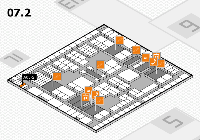 interpack 2017 hall map (Hall 7, level 2): stand A03-2