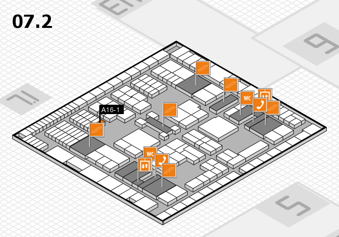 interpack 2017 hall map (Hall 7, level 2): stand A16-1