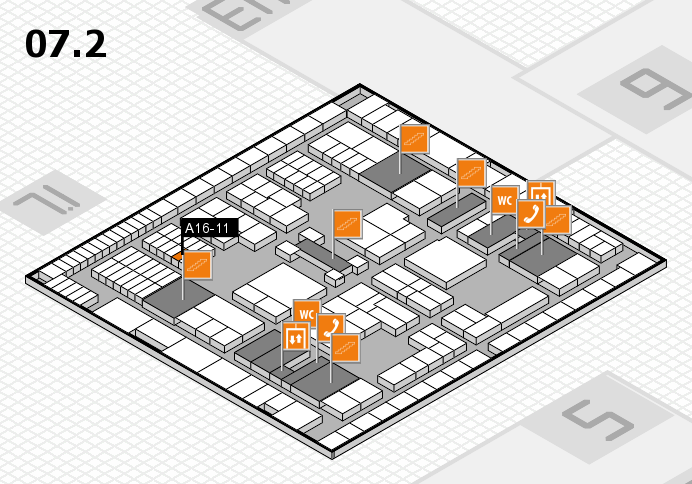 interpack 2017 hall map (Hall 7, level 2): stand A16-11