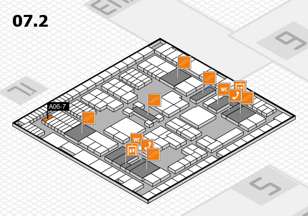 interpack 2017 hall map (Hall 7, level 2): stand A06-7
