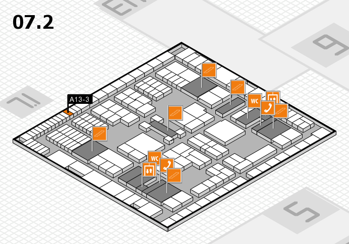 interpack 2017 hall map (Hall 7, level 2): stand A13-3