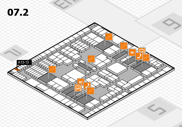 interpack 2017 hall map (Hall 7, level 2): stand A13-13