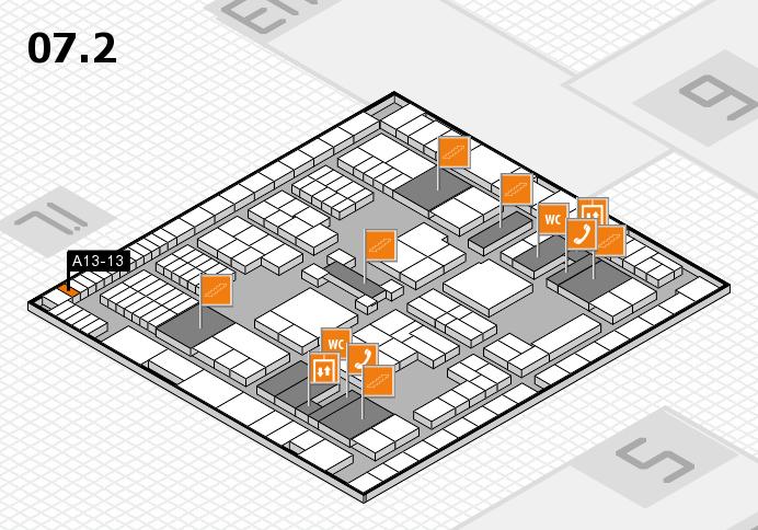 interpack 2017 Hallenplan (Halle 7, Ebene 2): Stand A13-13