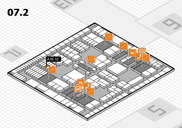 interpack 2017 hall map (Hall 7, level 2): stand A16-10