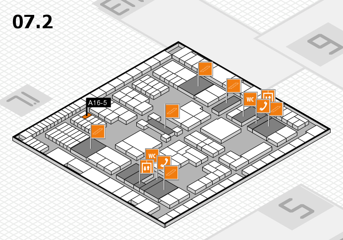 interpack 2017 hall map (Hall 7, level 2): stand A16-5