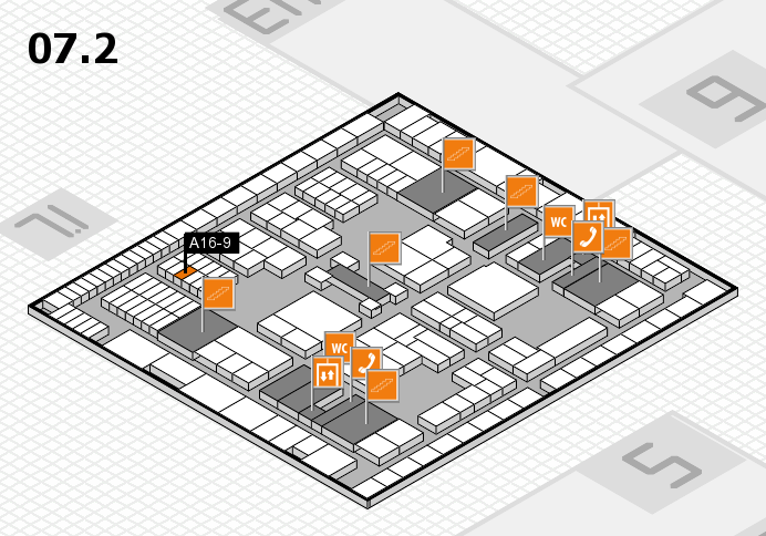 interpack 2017 hall map (Hall 7, level 2): stand A16-9