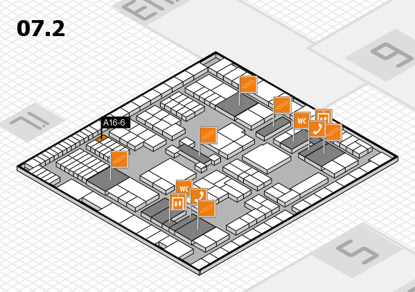 interpack 2017 hall map (Hall 7, level 2): stand A16-6