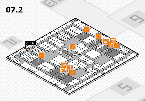 interpack 2017 hall map (Hall 7, level 2): stand A13-5