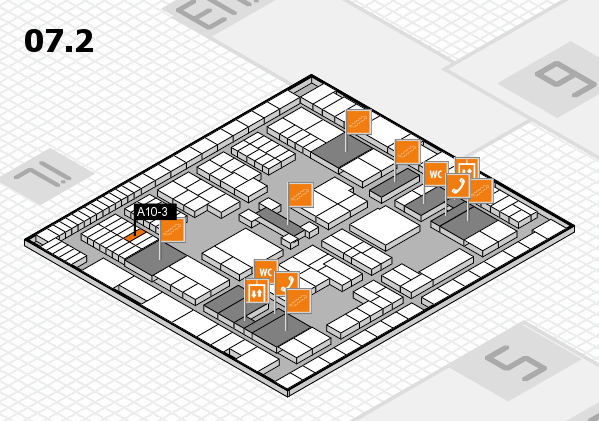interpack 2017 hall map (Hall 7, level 2): stand A10-3