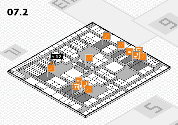 interpack 2017 hall map (Hall 7, level 2): stand A16-2