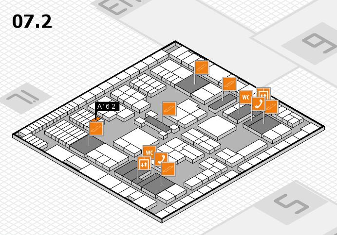 interpack 2017 Hallenplan (Halle 7, Ebene 2): Stand A16-2